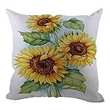 Indexp - Juego de Fundas de Almohada de Terciopelo para sofá o Cama, con diseño de Girasol, para decoración del hogar