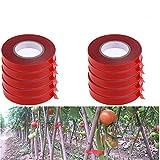 YeBon Juego de 10 piezas de PE para atar a mano ramas de plantas (cinta roja)