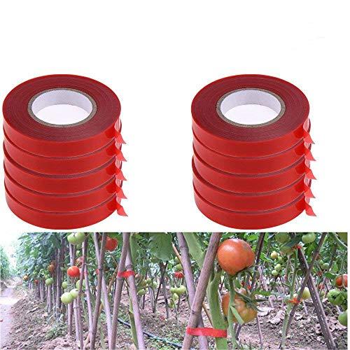 Preisvergleich Produktbild YeBon 10 Teile / Satz Pflanze Zweig Handbinden Bindemaschine Blume Gemüsegarten Tapetool Tapener ener Rotes Bindeband
