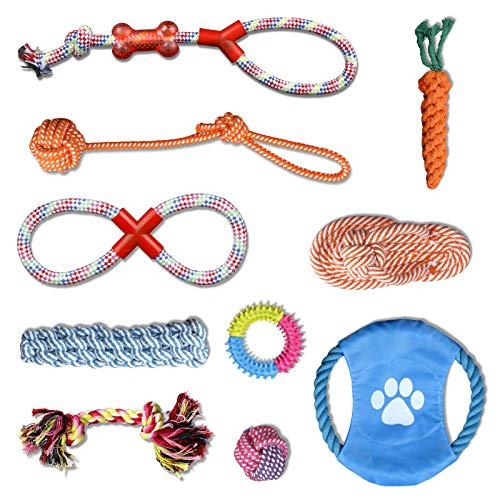 YLXQJIN Hundespielzeug Set, Hundeseile, Interaktives Pet Rope Spielzeug, Hergestellt aus Natürlicher Baumwolle Ungiftig und Geruchlos Robust Besser, Geeignet für Kleine und Mittelgroße Hunde