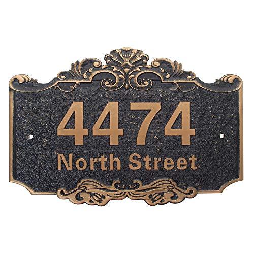 Placa con número de casa personalizada, letreros de dirección de la calle, números y letras de casa personalizables de Aspire