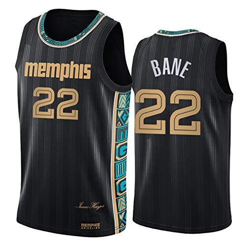 Grizzlies # 22 Baner - Camiseta de baloncesto para hombre, 100% fibra de poliéster, unisex cómodo, chaleco deportivo de baloncesto XL (85 ~ 95 kg)