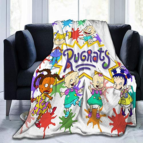 Overbearshop Fashion Fleece Bed Blankets, Ru-grats Cartoon Personalized Wedding Throw Blankets, All Seasons Lightweight Super Cozy Warm Blanket fit Mom Chair Dorm Room - 50' x40