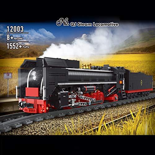 OATop 1552 Teile City Güterzug dampfeisenbahn Baustein Modell, City Zug mit Motor und Ferngesteuert Bauset...
