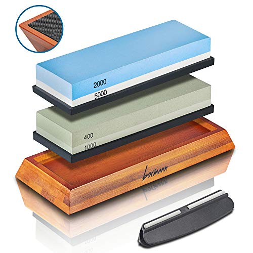 Knife Sharpening Stone 400/1000 2000/5000 Professional Knife Waterstone Kitchen Knife Sharpeners Best Kit For Sharpening Steel Knives