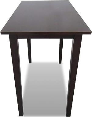 vidaXL Table de Bar Marron en Bois Table de Salle à Manger Table de Cuisine
