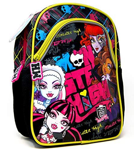 Monster High - Cooles Monster Design - Kindergarten-Rucksack/Kindergartentasche - für die Brotdose/Trinkflasche + Art Sticker #3 - Vorschul-Rucksack