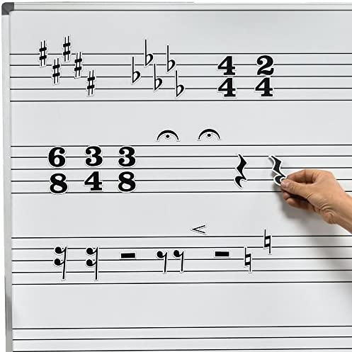 Chamberlain Music Magnetic Music Symbols for Whiteboards Rests Accidentals and Time Signatures product image