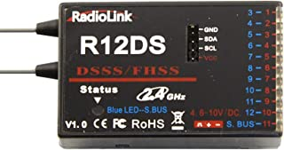 Radiolink R12DS 2.4GHz 12 Channels Receiver SBUS/PWM Telemetry RC Receiver Long Range Control for AT10II, AT9S Transmitter