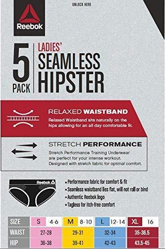Reebok-Womens-Seamless-Hipster-Panties-5-Pack