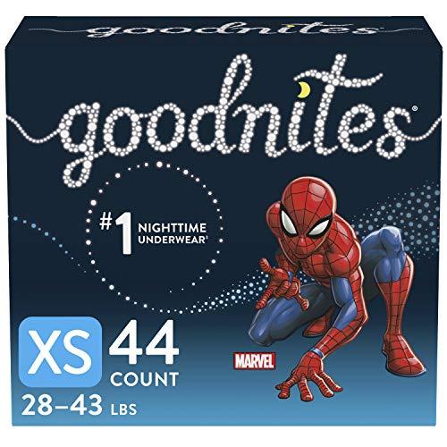 Goodnites Nighttime Bedwetting Underwear, Boys' XS (28-43 lb.), 44 Ct