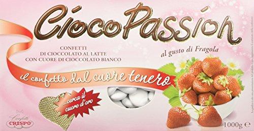 Crispo Confetti Cioco Passion Fragola - Colore Bianco - 3 confezioni da 1 kg [3 kg]