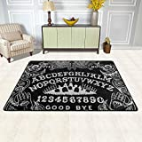 Modern Area Rugs Ouija Board Black Ultra Soft Comfy Carpet for Floor Home Bedroom Living Dining Room, 36'x24'