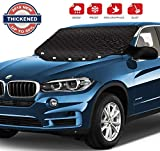 MITCIEN Car Windshield Snow Cover for Ice and Snowwith Ice Scraper Removal - All Weather Winter Summer Double Side Sun Shade for Cars Trucks Vans and SUVs with Magnets Edges Mirrors Covers