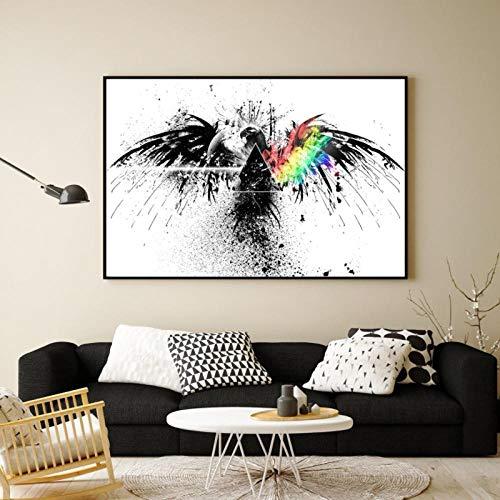kldfig groothandel abstracte schilderijen grote aquarel adelaar kop poster en afdrukken canvas afbeeldingen voor woonkamer Home Decor- 50x70cm niet ingelijst