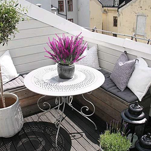 XHXSTORE 4 Pcs Künstliche Lavendel Blumen Lila Kunstblumen Kunstpflanzen Lavendel Plastik Pflanzen für Hochzeit Balkon Garten Zuhause Büro Party Blumenkasten Vase Dekoration - 3