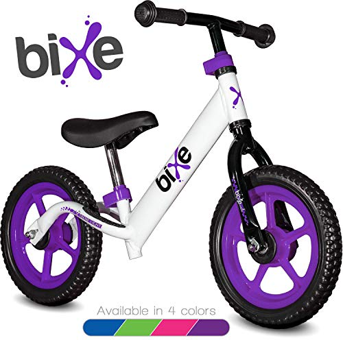 Purple (4LBS) Aluminum Balance Bike for Kids and Toddlers - 12' No Pedal Sport Training Bicycle...