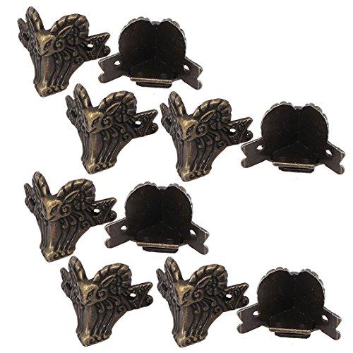 Aexit Geschenkbox schmuck fall metall ram form eckenschutz bronze ton 10 stücke (870df5bc10cf5b2058bc8faf29f6831d)