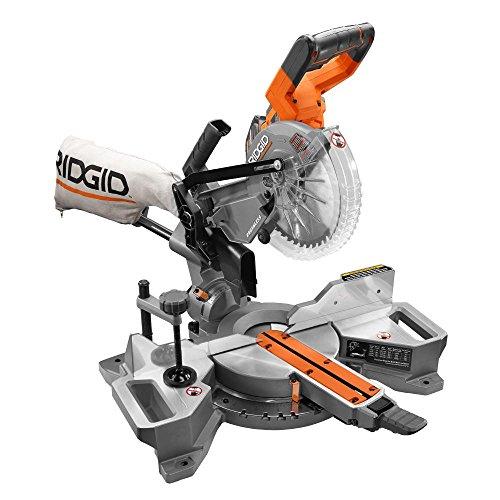 Ridgid R48607K 18-Volt 7-1/4 in. Cordless Brushless Dual Bevel Sliding Miter Saw...