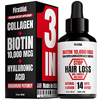 FirstAid Biotin 10000 mcg - Hair Growth Supplement