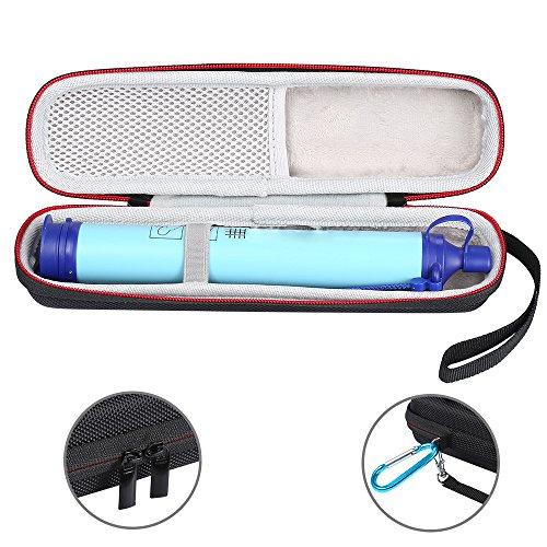 LuckyNV Carry Travel Case Cover pour LifeStraw et LifeStraw Steel Personal Filte Eau Purification Purification Stockage Zipper Sacs de Protection (Noir)