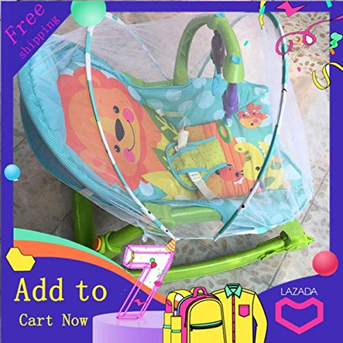 %50 OFF! Baby Rocking Chair Mosquito Net Swing Baby Electric Cradle Bed Lying Chair Child Swing Mosq...