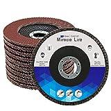 20 Piezas Disco Abrasivo Profesionales 125mm Disco de Láminas, Mezclado 40 60 80 120 x 5 Grano, Discos de Rectificación de Oxido de Aluminio de Mirocle Life para Pulido