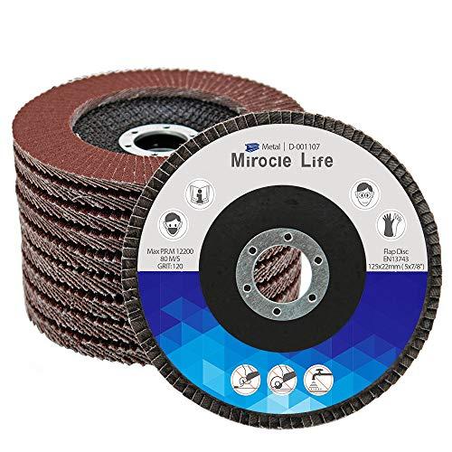 20 Piezas Disco Abrasivo Profesionales 125mm Disco de Láminas, Mezclado 40 60...