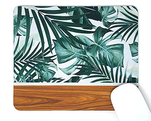 Mouse Pad 4mm Decorative Mousepad/Tropical & Wood/Non Slip Rubber Mousepad - Office - Beautiful Design - Computer Accessories Fashion Gaming Mouse Pad - Rectangle 4mm Comfort