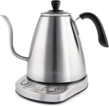 Gooseneck Electric Kettle, Pour Over Tea Coffee Kettle with Variable Temperature Control & Presets, 1L, Full Stainless St