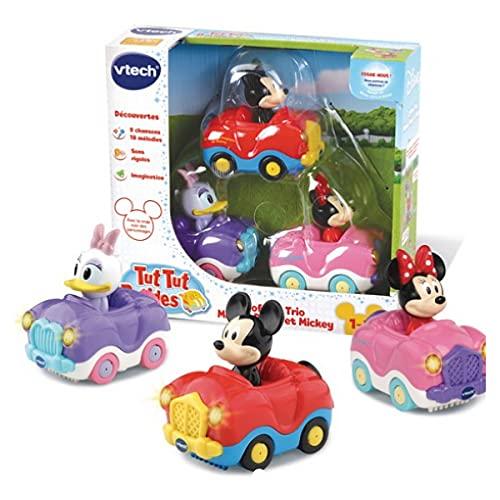 VTech – TUT TUT Bolides – Trio Disney Minnie, Daisy und Mickey inklusive – franz...