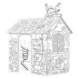 STKASE Spielhaus aus Pappe Prinzessin Pappspielhaus zum Bemalen Haus Spielzeug Karton Prizessin...
