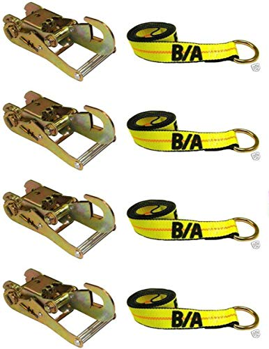 Review Of BA Products 38-22D-x4, 38-1-x4, (4) Ratchet w/Snap Hook (4) 8' Lasso Straps for Tow Truck<...