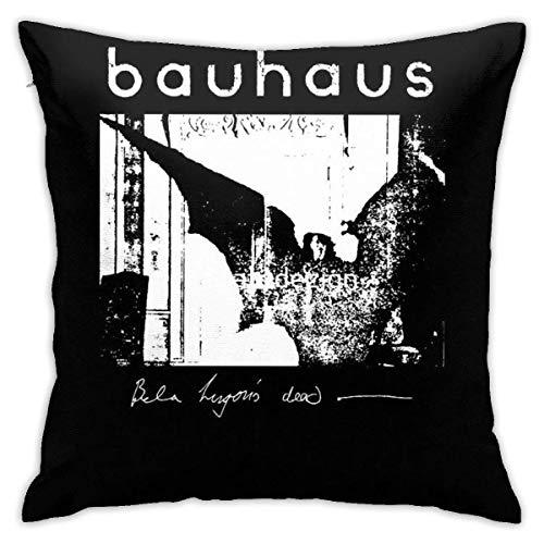 Lucky girlfriend Bauhaus - Funda de cojín para dormitorio de Bela Lugosis, cuadrada, 18 x 18 pulgadas