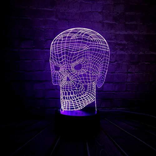 Led-3D-nachtlampje, creatief 3D-lampje, acryl, werkt op batterijen, 7 kleuren, USB-opladen, led-decoratie, nachtkastje, lava-tafeltje, nachtlampje, vakantiegeschenk, met afstandsbediening