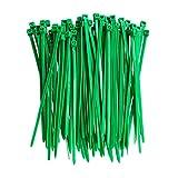 Bridas Para Cables 2,5 x 100 mm Verde 8 kg Resistencia a la Tracción Autoblocante Multifuncional Correa de Gestión de Cables de Nailon 100 Piezas