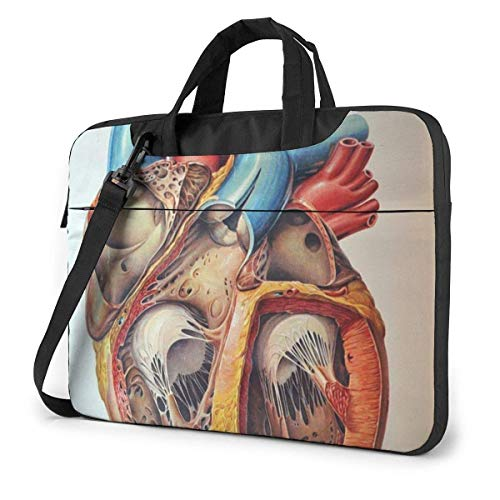 Laptop Case Computer Bag Sleeve Cover Human Anatomy Heart Chart Waterproof Shoulder Briefcase 13 14 15.6 Inch