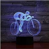 3D Lichter Nachtlicht LED Rennrad für Nationalfahrräder Multicolor Flash Dissolvenza Weihnachtsgeschenke für Jungen