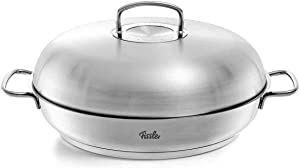 Fissler Original Profi Collection Stainless Steel Serving pan 32cm with lid, Silver, 16 x 12-Inch