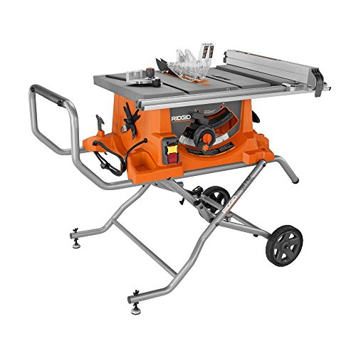 Ridgid R4513 15 Amp 10 in. Heavy-Duty Portable Table Saw with Stand