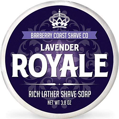 Lavender Royale Shave Soap for Men - Rich, Slick & Thick Lather - High-Performance