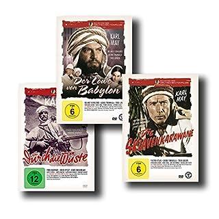 """Die besten Karl May Abenteuerfilme – Der Löwe von Babylon / Die Sklavenkarawane / Durch die Wüste [3-DVD-Set] """"Schätze des Deut"""