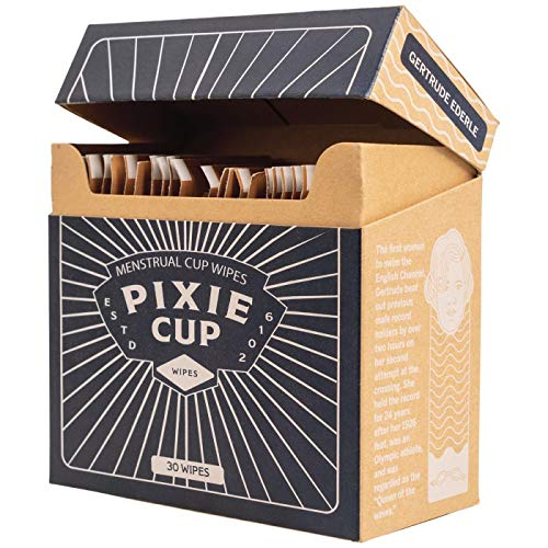 Pixie Cup Die empfohlenen Tücher für Ihre Periode Cup 100% Alkoholfrei Biologisch abbaubarer Antiseptische Blumenduft