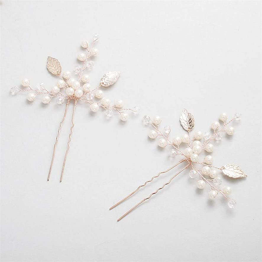 2 Pcs/Lot Hair Pins For Bride Ivory White Hairpins For Women Wedding Hair Ornaments Hair Accessories 2pcs Rose Gold