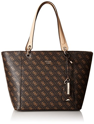 GUESS Kamryn Q Logo Tote, Brown,One size
