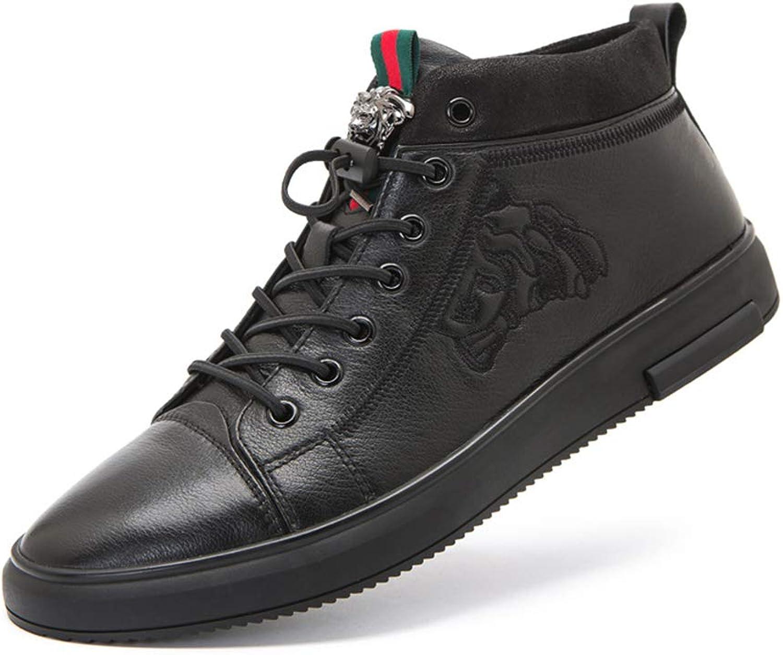 Left &Right Mans läder Comfortable skor, High -Top -Top -Top Lace -Up Casual skor springaning skor Jokern Fitness Gym skor svart  stor rabatt