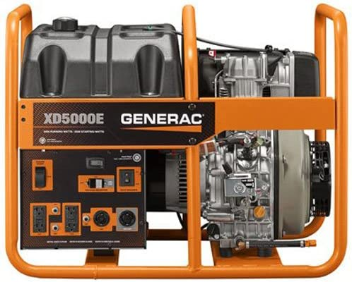 wholesale Generac sale 6864, 5000 Running Watts/5500 Starting outlet sale Watts, Diesel Powered Portable Generator online sale