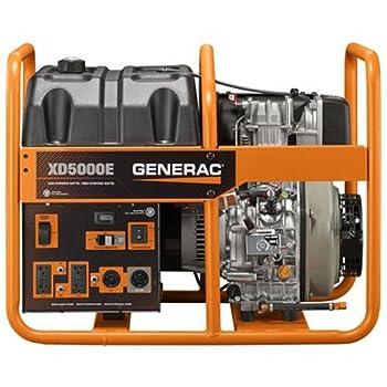 Generac 6864 5000 Running Watts/5500 Starting Watts Diesel Powered Portable Generator