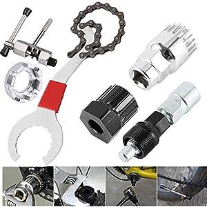 Yahee 6en 1Extractor de biela de bicicleta, eje de pedales, rodamiento interior, extractor de corona, tronchacadenas