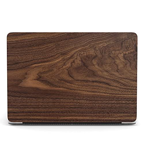 ACJYX Funda compatible con MacBook Pro de 13 pulgadas 2020 2019 2018 2017 2016 modelo A2338 M1 A2251 A2289 A2159 A1989 A1706 A1708, plástico mate vetas de madera